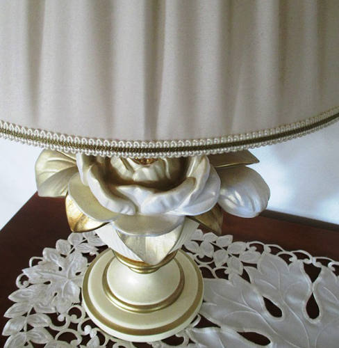 Cleaning a fabric lampshade