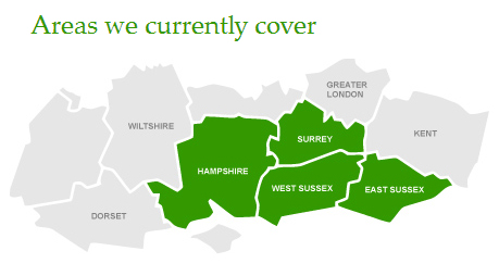 Areas we cover: West Sussex, East Sussex, Hampshire, Surrey