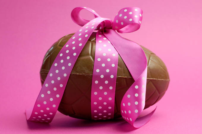Chocolate Easter Egg With Bow